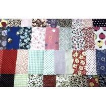 50 Quadrados 9cm Cortados P/ Trabalho D Fuxico/patchwork