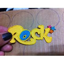 Aplique Bordado P/roupas, Rock Amarelo R$ 12,00 Frete Gratis
