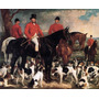 Mestre De Cães De Caça Inglaterra Pintor Grant Na Tela Repro