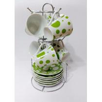 Set Juego Tazas De Cafe Porcelana X12