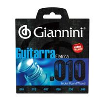 Encordoamento P/ Guitarra 010 Giannini + 1 Mi Extra Promoção