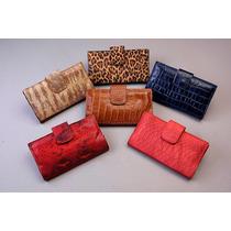 Billeteras Dama De Cuero Pack X 6 Unidades