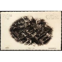 Cartão Postal Antigo Recife Pe Vista Aérea