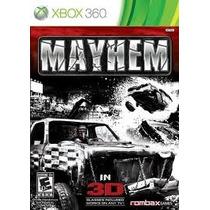 Jogo Pra Xbox 360 Ntsc Mayhem Acompanha Par De Oculos 3d
