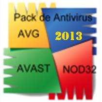 Pack De 3 Antivirus (avg - Avast - Nod32)