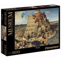 Quebra Cabeça Gigante 1500 Peças Bruegel A Torre De Babel