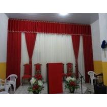 Cortinas Para Igrejas Pr/varão Duplo,6,00 Largura 3,00 Altur