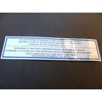 Etiqueta Ar Condicionado Golf Gl Glx Gti - Original Vw Novo