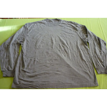 Polera 2xl, Manga Larga, Color Gris, Marca Champs