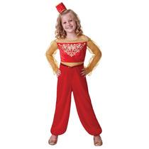 Disfraz De Aladino Pequeño Rojo Para Niñas