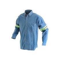 Camisa Casual Mezclilla C/ Reflejante ( Somos Fabricante )