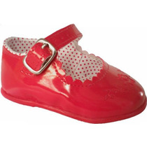 Sapato Sapatinho Social Infantil Bebê - Cor Vermelho Verniz