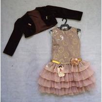 Vestido Infantil Festa Luxo 101 - Bambina Fashion Promoção