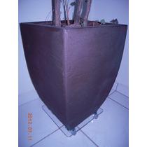 Suporte Para Vasos De Acrilico 25cm -plantas Jardins Rodizio