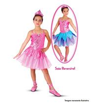 Fantasia Barbie Sapatilhas Mágicas Luxo Sulamericana