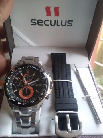 6761c604e38 2 Relogios Num Preço So Seculus E Orient Leiam Com Atençao - R  398 ...
