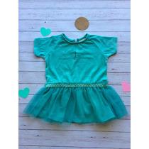 Vestido Zara Baby Con Pollera Tul Verde Agua T:6-9 Promo!