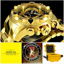 Invicta Excursion 80624 Original Banhado Ouro 18k C/maleta