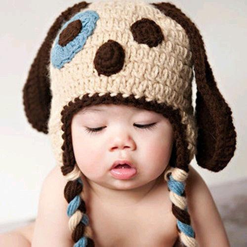 Touca Croche Cachorrinho - Newborn Fotografia Gorro Bebe - R  38 fdc261572fd