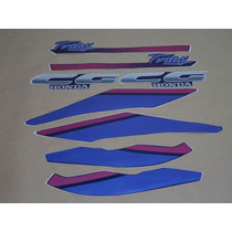 Kit Adesivos Honda Cg Today 1993 Azul - Decalx