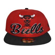 Boné New Era Aba Reta Fechado 5950 Nba Chicago Bulls