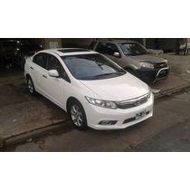 Honda Civic Exs 1.8 Automatica Cuero Y Techo Blanca 2012