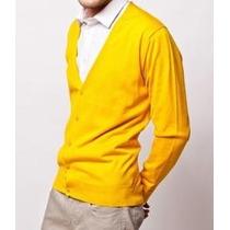 Plus Size Do 50 Ao 60 - Cardigan Masculino - Tricot