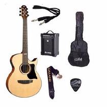 Kit Violão Strinberg Aw53 Elétrico +amplificador+acessórios