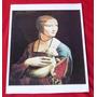 Gravura Dama Com Um Arminho Leonardo Da Vinci 29x43 ;