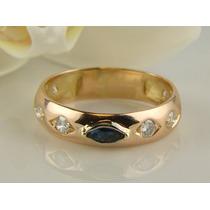 Maravilhoso Anel Formatura Em Ouro 18 Quilate E Diamantes