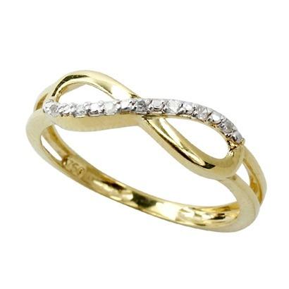 42c58b8cf32d9 Anel Infinito Com Diamantes Em Ouro 18k!!! - R  823,78 em Mercado Livre