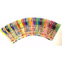 Canetinha Colorida Gel Com Glitter 24cores Neon Perfumada