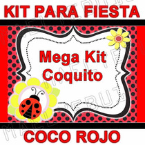 Kit Imprimible Mariquita Coquito Lady Bug Baby Shower Fiesta