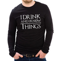 Playera Hombre Manga L Game Of Thrones I Drink & Know Things