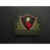 Distintivo Emborrachado Polícia Comunitária Colorido