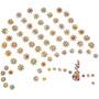 50 Bindi Cartelas Piercing Para Cães Colantes Adesivos Pet