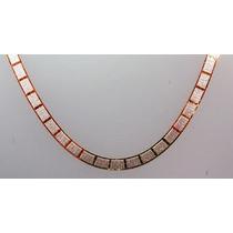 Corrente Em Prata 925 - Dupla Face - 45cm