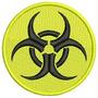 Patch Bordado Termocolante Simbolo Risco Biológico Prf98