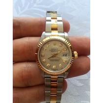 Rolex Feminino - Datejust - Ouro/diamantes