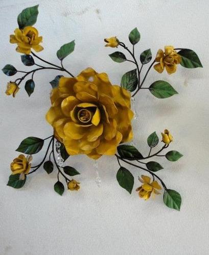 Artesanato Indiano ~ Ca515 Plafonier Flor Grande Artesanato Em Ferro R$ 215,00 em Mercado Livre