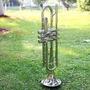 Trompeta Bb B Plana Latón Plateado Exquisito Con Boquilla