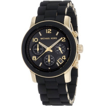 Reloj Michael Kors Mk5191 Negro Y Dorado Nuevo En Caja