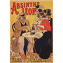 Absinto Bebida Homem Mulher Bar Mesa Poster Repro