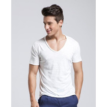 Camiseta Regata Masculina Gola V,slim,blusas,viscose,camisas