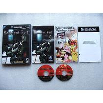 Game Cube: Resident Evil Remake Americano Completo! Raridade