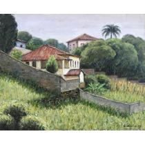 Quadro Pintura Óleo S/ Eucate Paisagem 24x30cm Frete Grátis