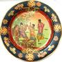 Prato Em Porcelana Chinesa Pintura Á Mão E Alto Relevo 26cm