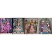 4 Bonecas Barbie Quebra Nozes Rapunzel Lago Do Cisne Magia D