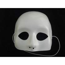 Mascara Meia Face Branca Carnaval Haloween Festas Disfarce