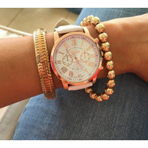 Reloj Dama Original Colores Nude (envio Gratis Dhl)